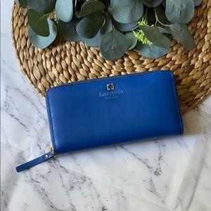 Kate spade ♠️ zip around long wallet - blue